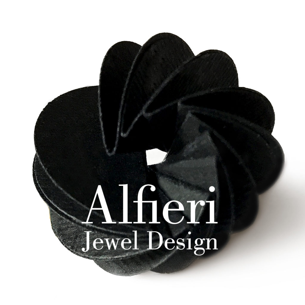 handmade paper jewelry with high quality materials and papers by Alfieri Jewel Design